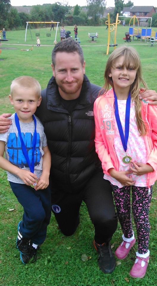 Children With Carl from Chesterfield college who ran the multi-sports sessions